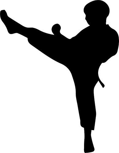 graphic of child doing karate