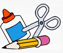 graphic of school supplies